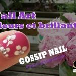 Nail Art – Fleurs et brillants