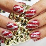 Nail art canne de Noël