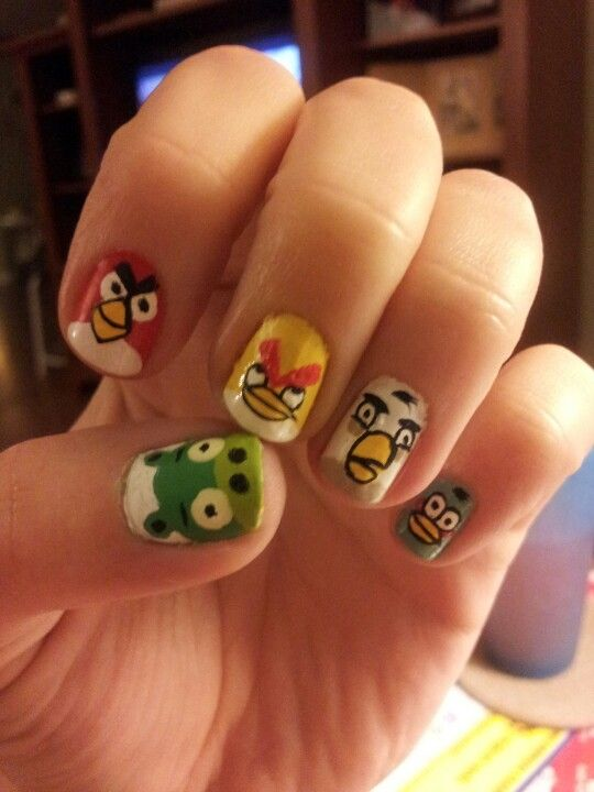 angrybirds-nailart