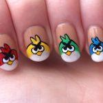 La folie Angry Birds sur vos ongles