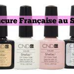 Manucure française au vernis gel Shellac