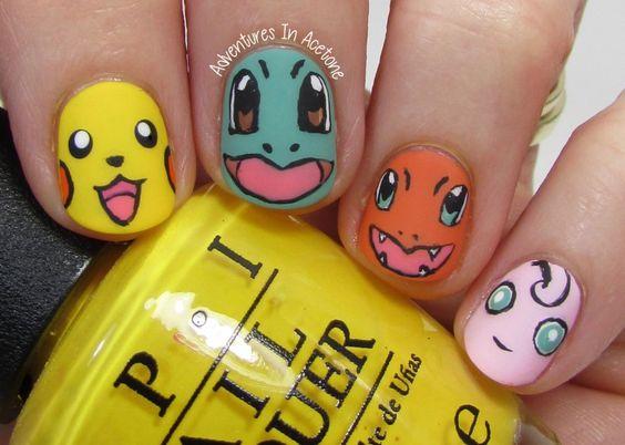 pokemon nail-art aventuresinacetone
