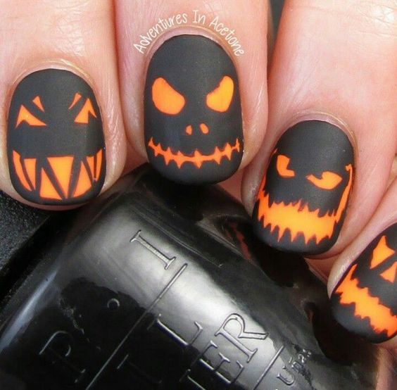 halloween-citrouille-ongles