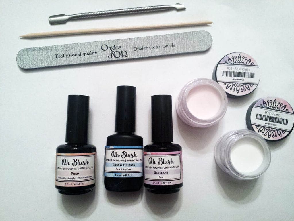 Oh blush dip powder review material