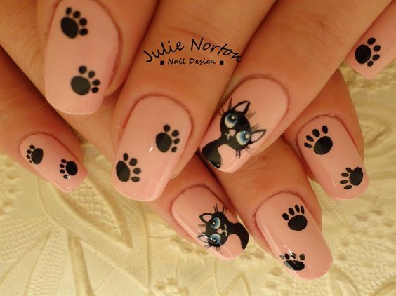nail-art chat cute