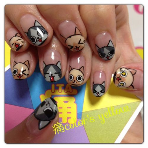 nail art chat japonais 2