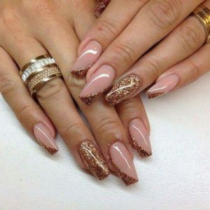 glitter nail art or