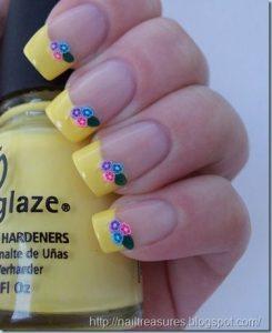 nail-art fimo fleur