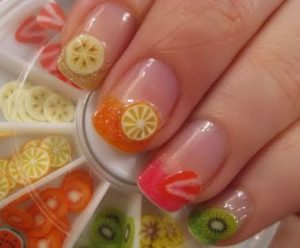 nail-art fimo fruits