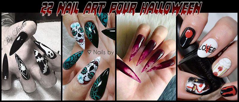 nail-art halloween 2017