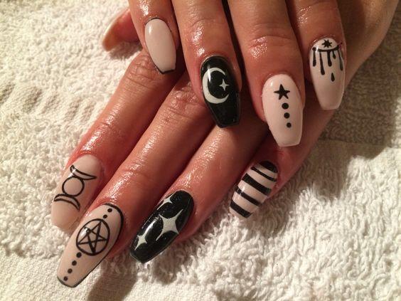 nail-art halloween satanique esotérique
