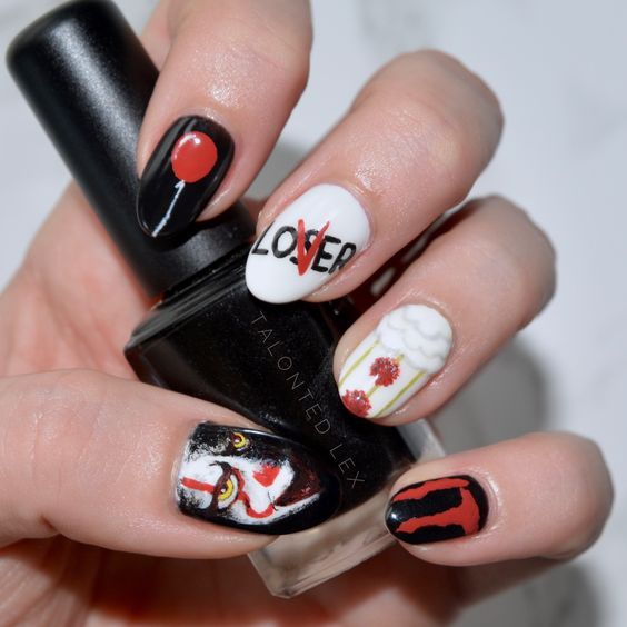 nails Pennywise Grippe-sou Ça IT nails ongles