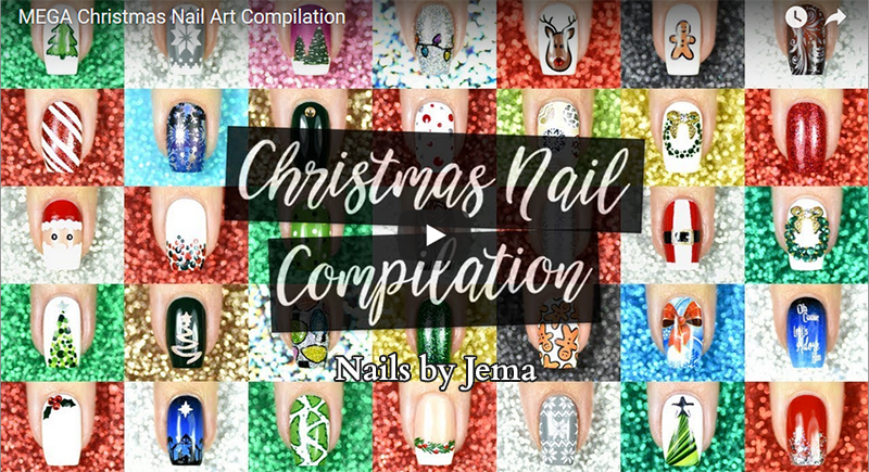 nail art christmas compilation de Noël