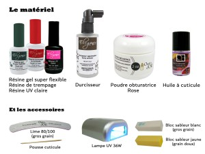 Matériel resine ongles naturels