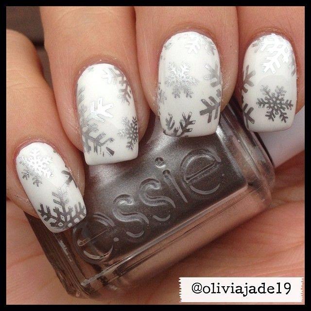 flocon gris blanc