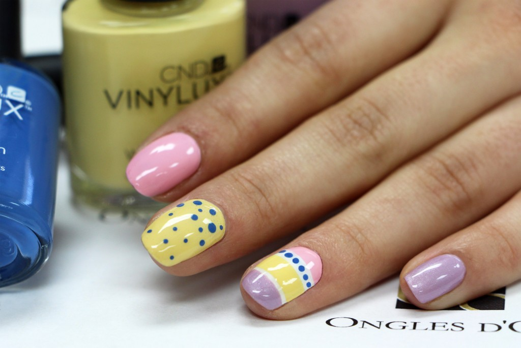 Nail art paques oeuf pastel