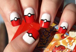 pokeball nails