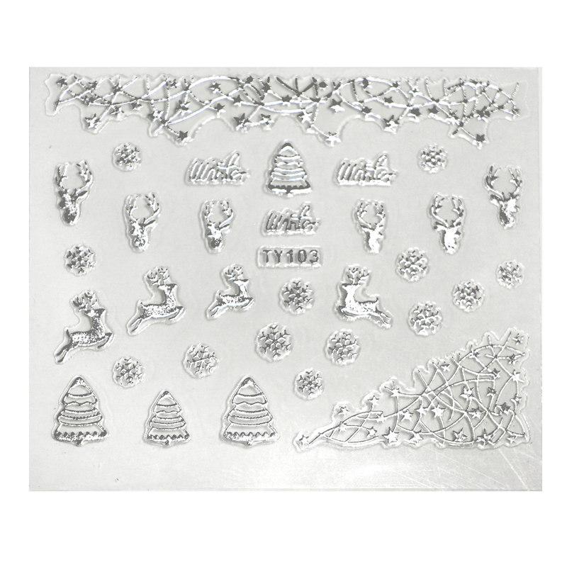 d3dty103a-3-d-nail-sticker-model-silver-reindeer-and-xmas-trees-ty103-1