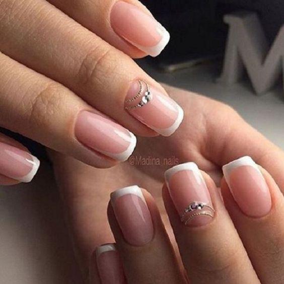 nail art mariage avec bijoux