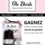 Gagnez un kit de vernis en poudre Oh blush !
