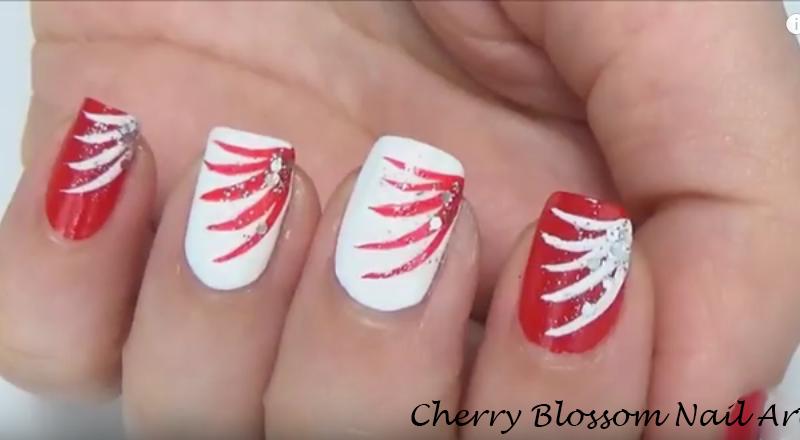 nail-art Canada day