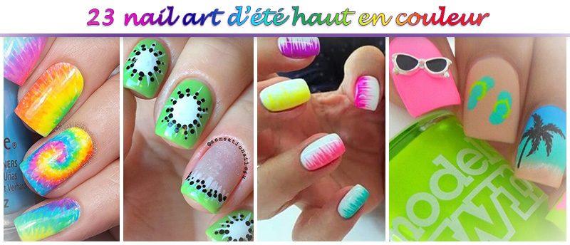 nail-art couleur été