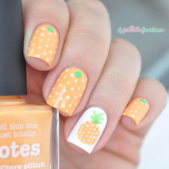 nail art fruit ananas