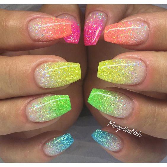 nail-art multicolor glitters