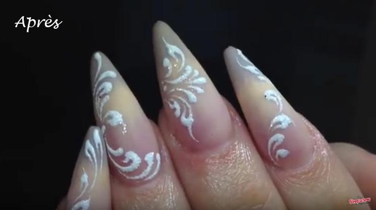 rallongement ongles gel après