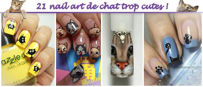 ongles chat cute