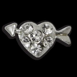 3d bijoux ongles coeur