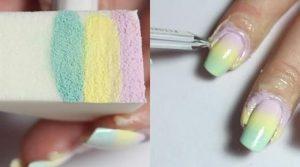 degradé éponge pastel