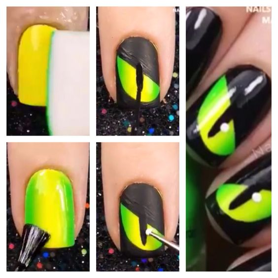 halloween cat eye nails