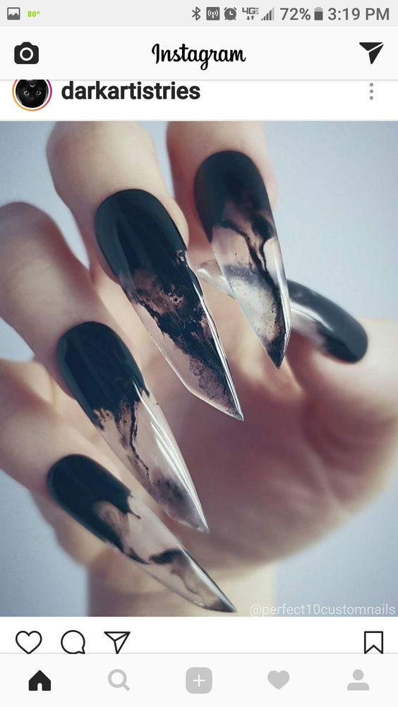 nail-art halloween protheses
