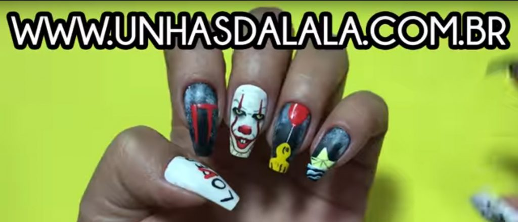 Nail art IT Pennywise - Grippe-Sou Çaa