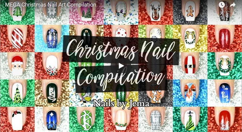 nail art christmas compilation de Noël