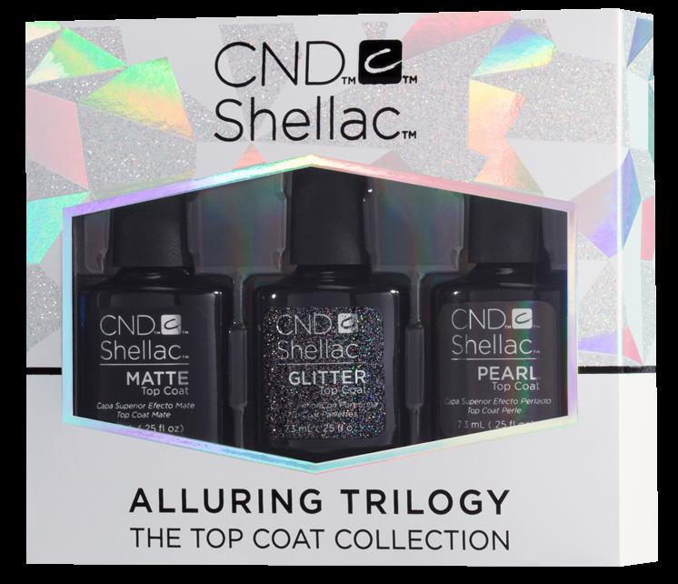 Shellac gel polish top coat pearl matte glitter